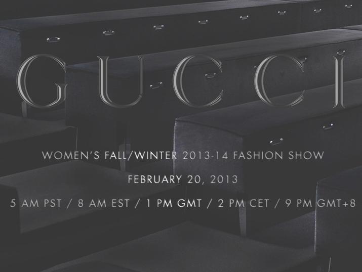 Gucci Women's FW2013-14 Milan Fashion Week