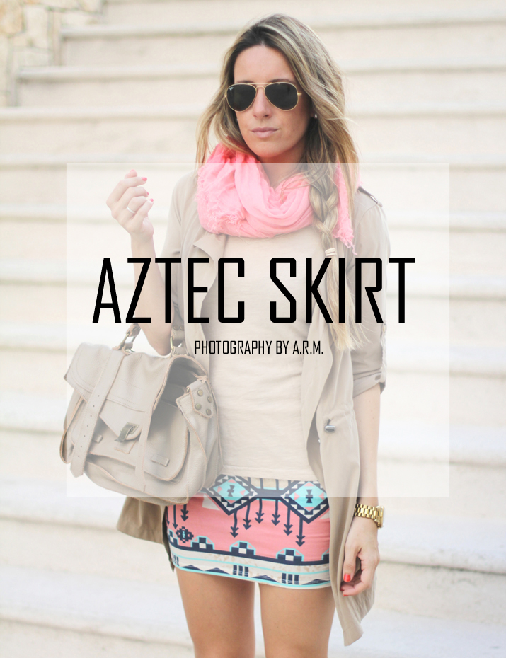 Aztec skirt, Mes Voyages à Paris, Fashion Blogger