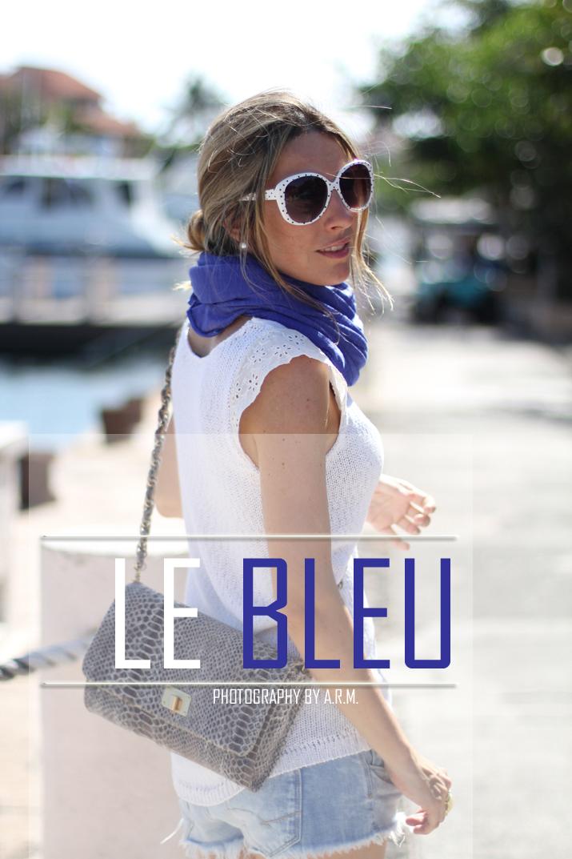 Royal blue trend, fashion blogger, Mónica Sors, Mes Voyages à Paris