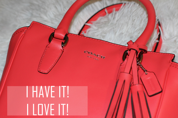 Coach Legacy Mini Tanner Coral