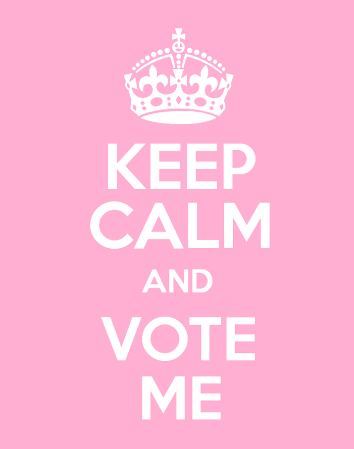 Keep calm and vote me blog1
