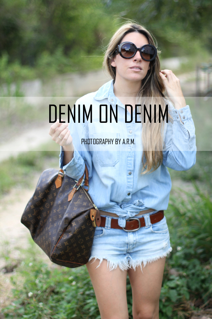 Denim on denim blogger