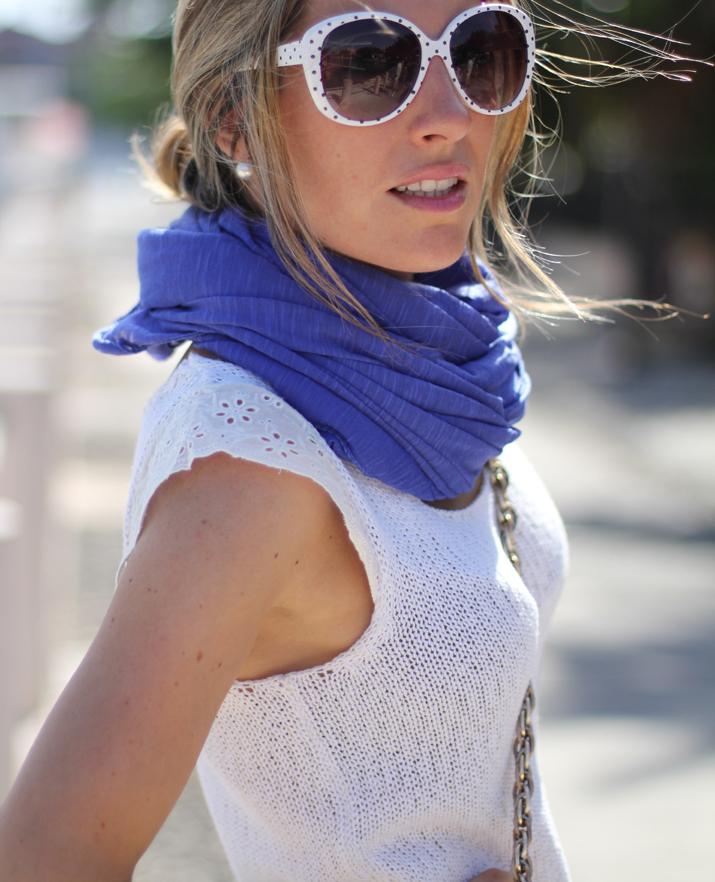 Royal blue touch, fashion accessories, fashion blogger, Mónica Sors, Mes Voyages à Paris