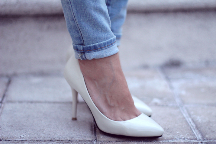 White shoes, trend shoes, stilettos, blogger, Fashionblog, Fashion Salade, Mes Voyages à Paris