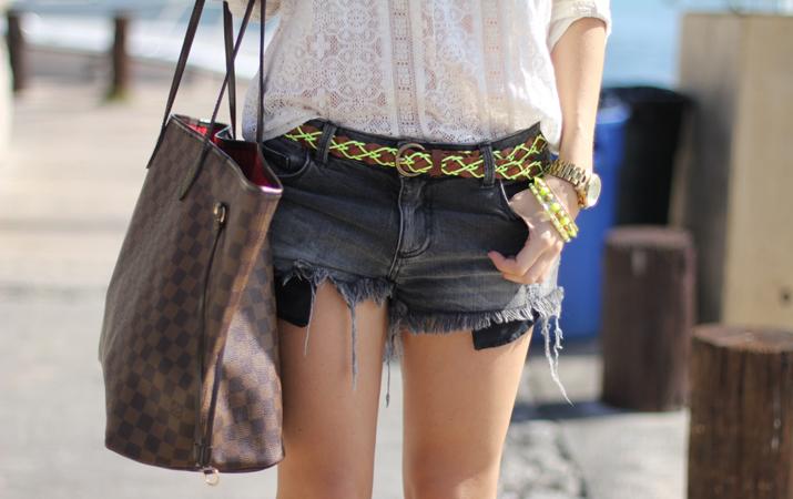 Louis Vuitton, denim shorts, Fashion blogger, Mes Voyages à Paris, Mónica Sors
