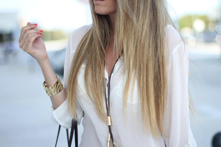 Blusa blanca blogger
