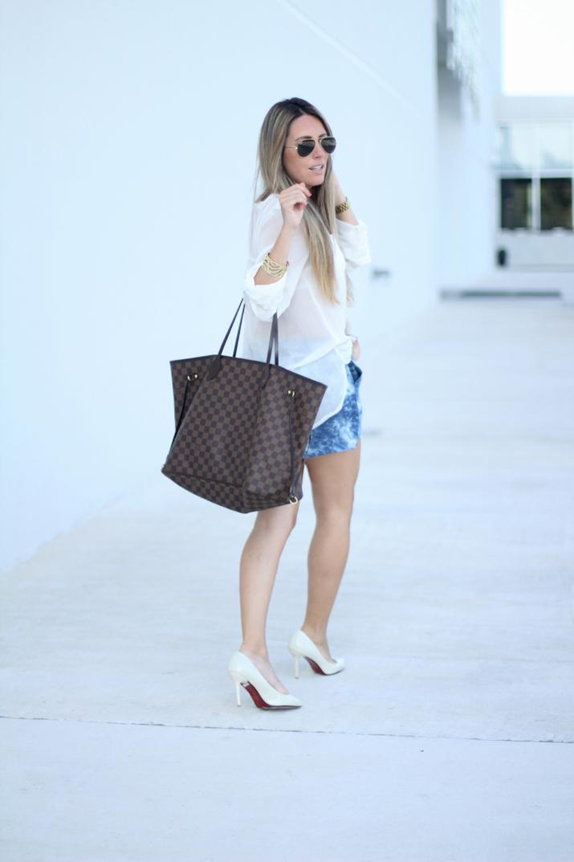 Camisa blanca y shorts Mesvoyagesaparis blog (5)