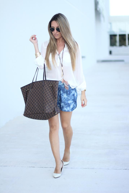 Camisa blanca y shorts Mesvoyagesaparis blog (6)