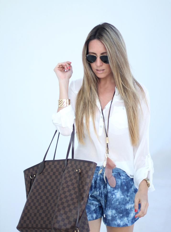Camisa blanca y shorts Mesvoyagesaparis blog (8)