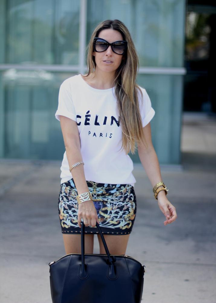 Camiseta Celine logo (2)