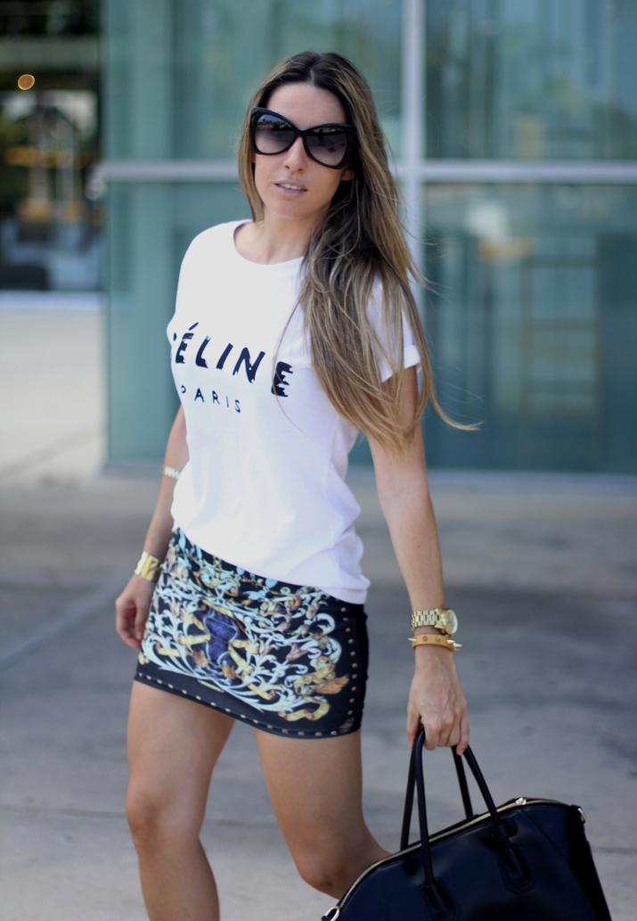 Baroque skirt Mes Voyages à Paris Fashion Blog