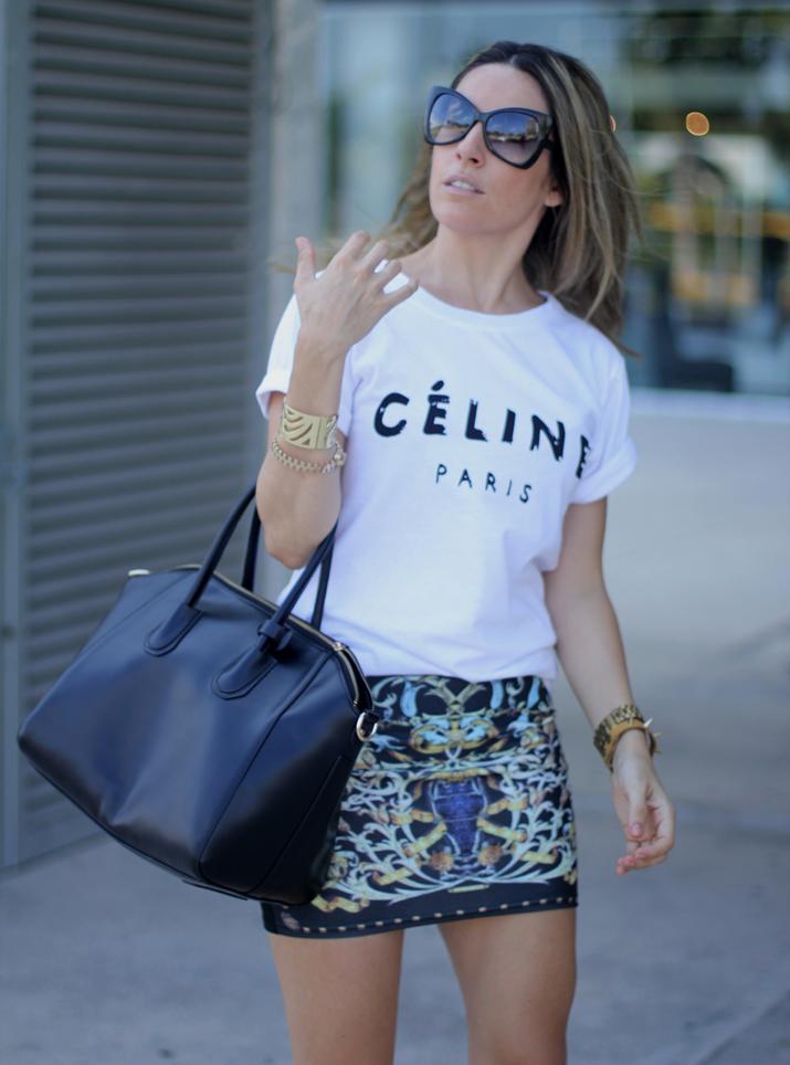 Celine logo tee look (2)