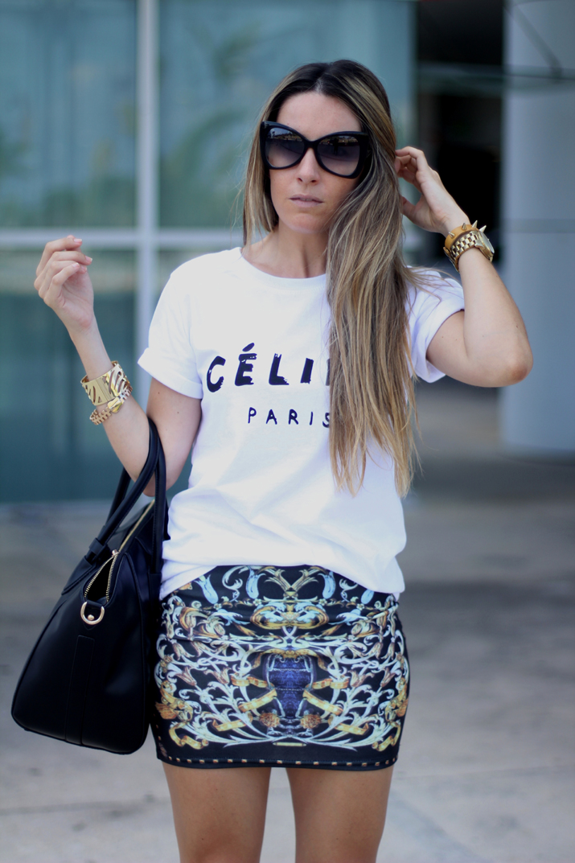 Celine logo tee look (4)