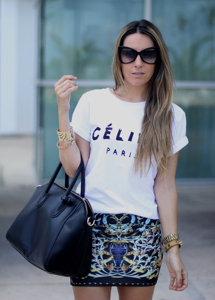 Celine logo tee look (5)
