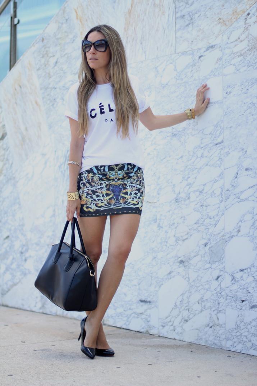 Celine logo tee look (8)