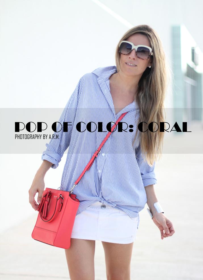 Coach bag Legacy Mini Tanner, Spring colors, coral, fashion blogger, fashion blog, Style, Mes Voyages à Paris, Mónica Sors