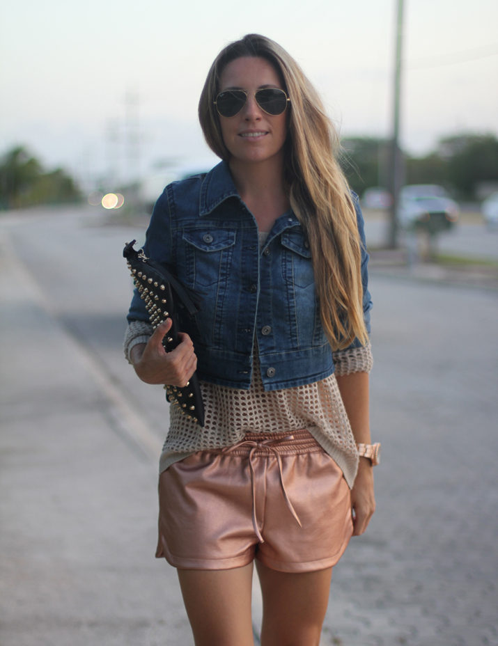 shorts metálicos blog de moda Mes Voyages à Paris (3)