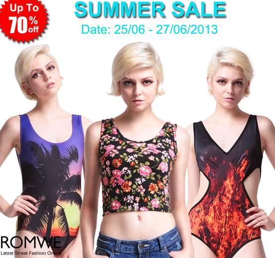 Romwe sales