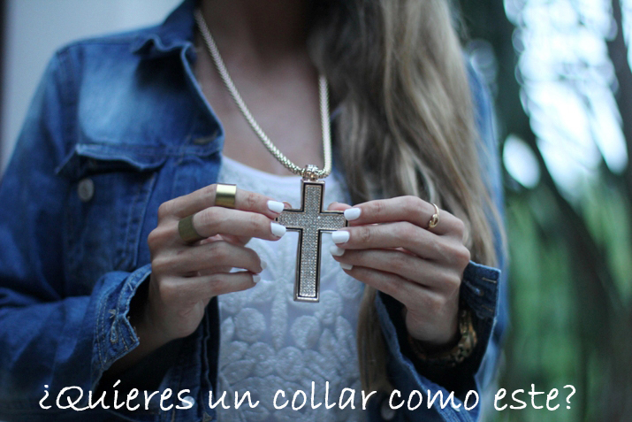 Sorteo blog de moda: collar cruz strass