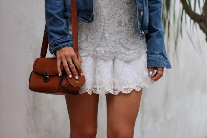 white lace skirt by fashion blogger