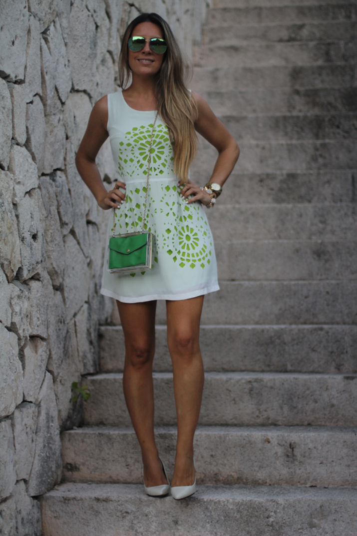 Mónica Sors vestido blanco