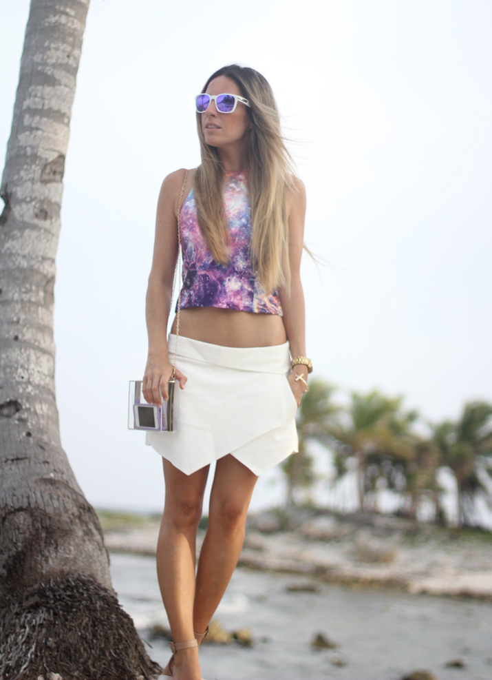 White skort outfit fashion blogger Mónica Sors (2)