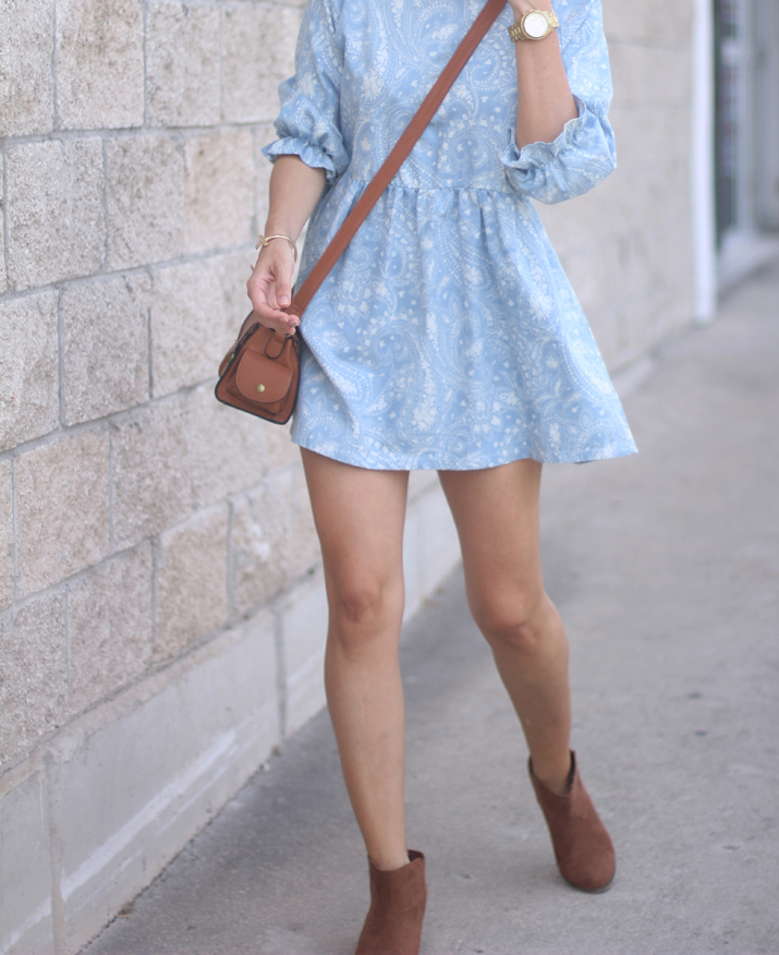 cowboy summer boots with dress fashion blog