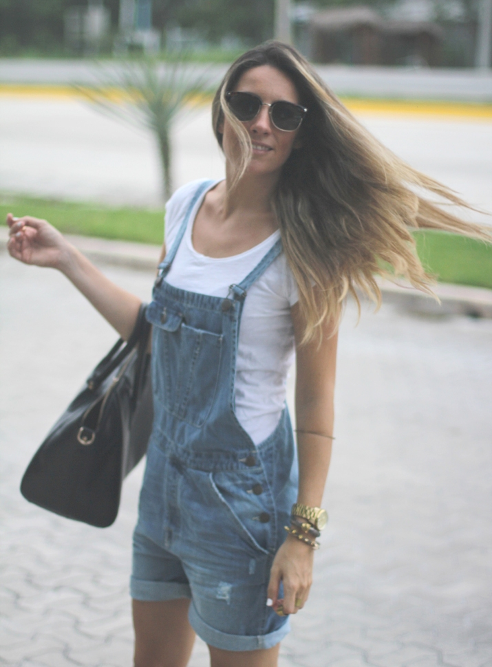 denim overalls fashion blog Mes Voyages à Paris